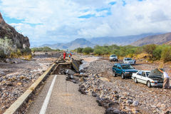 Collapsed highway Stock Photos