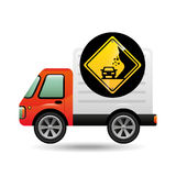 Collapse traffic sign concept. Vector illustration eps 10 Royalty Free Stock Photo