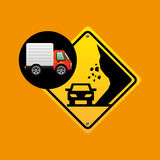 Collapse traffic sign concept. Vector illustration eps 10 Stock Photos