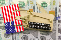 The collapse of the US financial system. And the implications Royalty Free Stock Images