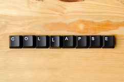 Collapse word. With keyboard buttons Stock Photography