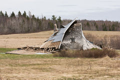 Collapsed Barn Stock Image