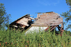 Collapsed Barn After the Storm Royalty Free Stock Images
