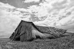 Collapsed barn Royalty Free Stock Photo