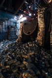 Collapsed Boilers - Abandoned Old Taylor Distillery - Kentucky stock photos