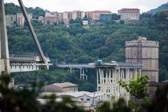 Collapse of Morandi bridge in Genoa, Italy stock photography