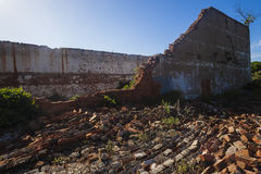 Collapsed Building Bricks Royalty Free Stock Photo