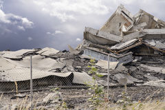 Collapsed building Royalty Free Stock Photography