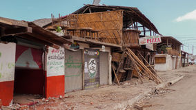 Collapsed Building After Earthquake Disaster, Ecuador Royalty Free Stock Photo