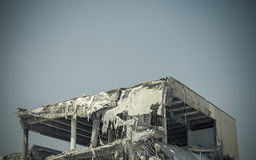 Collapsed building after earthquake Royalty Free Stock Photo