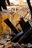 Collapsed building. Interior of a collapsed building Royalty Free Stock Photo