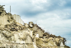 Collapsed Building Wall Stock Photo