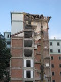 Collapsed buildings. Royalty Free Stock Image
