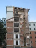 Collapsed buildings. Royalty Free Stock Images