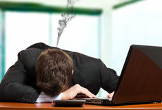 Collapsed businessman Stock Images