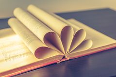 Collapsed cards books. Collapsed cards of old book Royalty Free Stock Photo