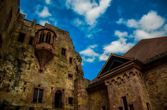 Collapsed Castle. A castle that some parts are collapsed in Germany Royalty Free Stock Image