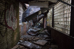 Collapsed ceiling stock photography