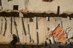 Collapsed. Ceiling on urban ruins Royalty Free Stock Images
