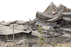 Collapsed concrete buildings Royalty Free Stock Photo
