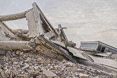 Collapsed concrete buildings Royalty Free Stock Image
