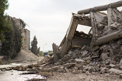 Collapsed concrete buildings Royalty Free Stock Images