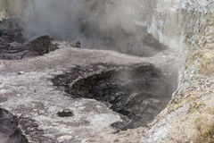 Collapsed crater in Waiotapu in Rotorua Stock Image