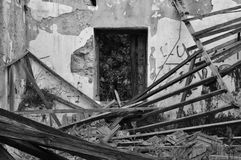 Collapsed house abandoned interior Stock Images