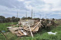 Collapsed Hut Stock Photography