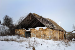 The collapsed old house Royalty Free Stock Photography