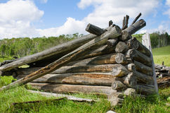 Collapsed Old Hunting Lodge Stock Photography