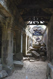Collapsed Passage at Preah Khan, Cambodia. Image of a collapsed passage at UNESCO's World Heritage Site of Preah Khan, located at Siem Reap, Cambodia Stock Image