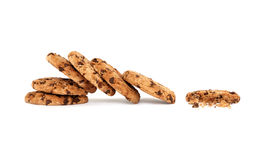 Collapsed pile of yummy chocolate chip cookies Stock Photography