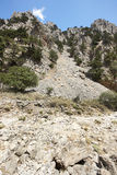 Collapsed rocks at Imbros Gorge. Crete. Greece Royalty Free Stock Photography
