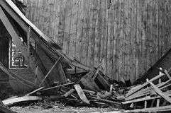 Collapsed roof house Royalty Free Stock Photography