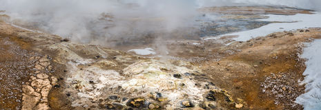 Collapsed Steam Vent or Fumerole. Royalty Free Stock Photo