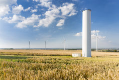 Collapsed Wind Turbine Royalty Free Stock Image