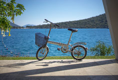 Collapsible Bicycle. Used by yachts owners ashore Royalty Free Stock Images