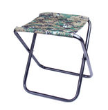 Collapsible chair. Collapsible fishing chair on white background Royalty Free Stock Photo