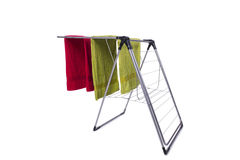 The collapsible clotheshorse isolated on the white background Royalty Free Stock Photography