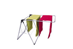 The collapsible clotheshorse isolated on the white background Royalty Free Stock Image