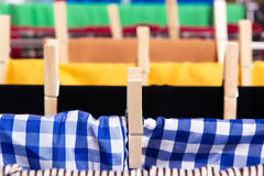 The collapsible clotheshorse isolated on the white background Stock Images