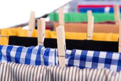 The collapsible clotheshorse isolated on the white background Royalty Free Stock Images