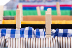The collapsible clotheshorse  on the white background Royalty Free Stock Image