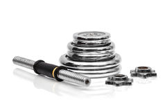 Collapsible dumbbell Stock Photo