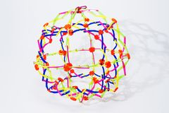 Collapsible rainbow color sphere. Isolated on a white background Royalty Free Stock Images