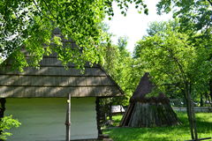 Collapsible shelter. Old collapsible shelter  in Romania Stock Photo