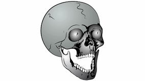 Collapsible skull stock footage