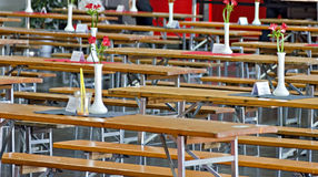 Collapsible tables and benches Stock Images
