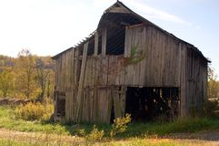 Collapsing Barn Royalty Free Stock Images